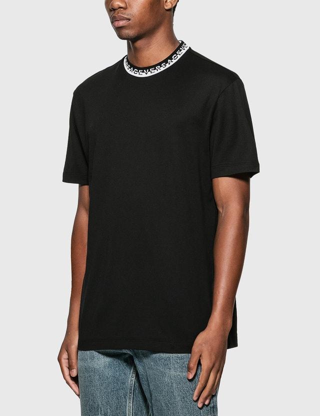 Versace Logo Collar T-Shirt Nero Men