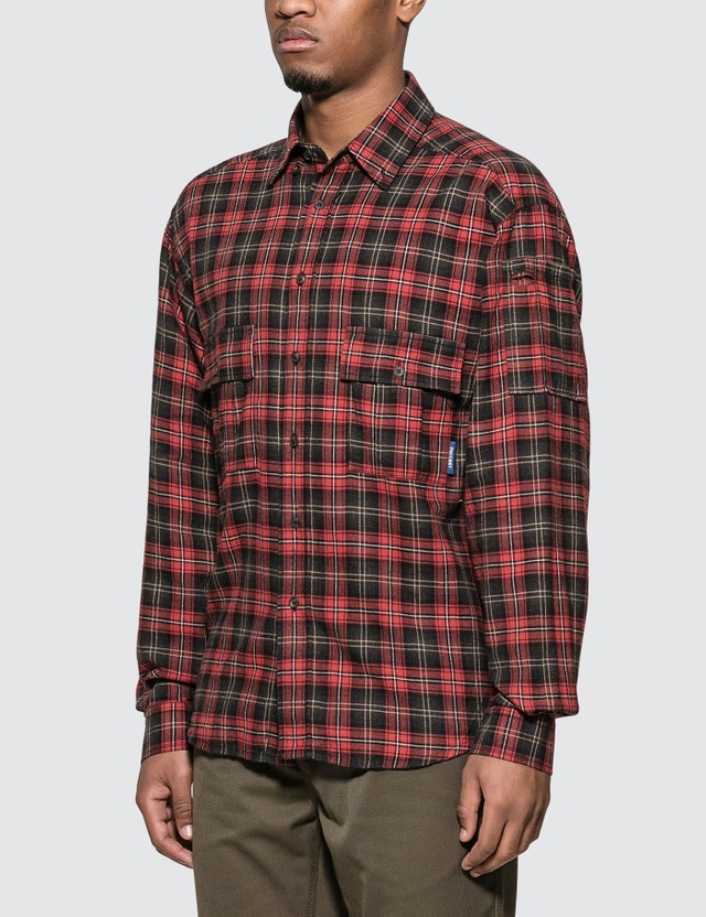 Rassvet Long Sleeve Flannel Shirt Red Men