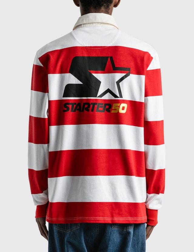 Starter Budweiser x Starter Varsity Stripe Rugby Shirt Red Men