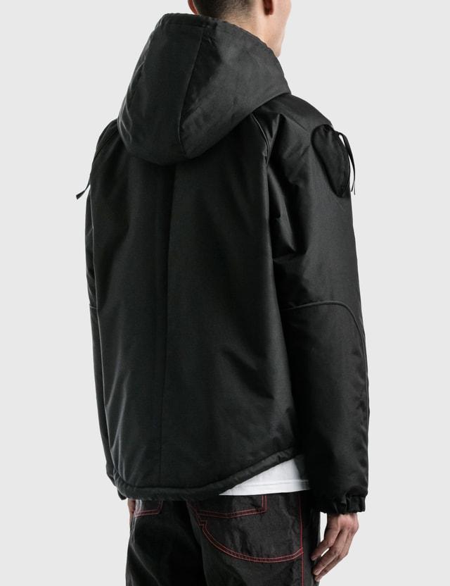 KANGHYUK Airbag Padded Hoodie Jumper Black Men