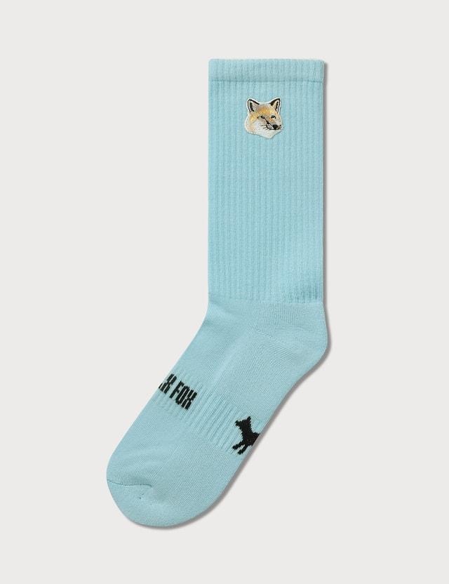 Maison Kitsune Pastel Fox Head Patch Socks