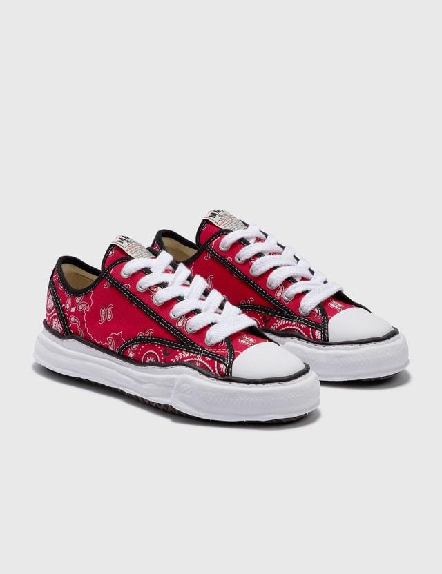 Maison Mihara Yasuhiro Original Sole Bandana Printed Canvas Lowcut Sneaker Red Men