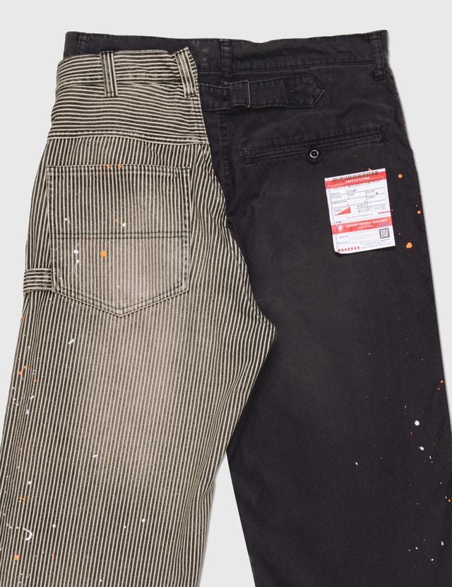 Maison Mihara Yasuhiro Docking Hickory Pants Black Men