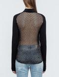 McQ Alexander McQueen Crochet Back Zipped Cardigan Picture