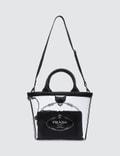 Prada Logo Pvc Shopping Bag
