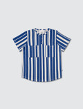 Mini Rodini Odd Stripe S/S Baseball T-Shirt Picture