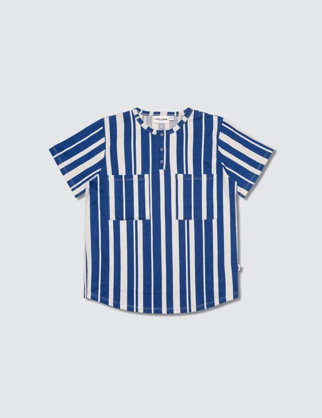 Mini Rodini Odd Stripe S/S Baseball T-Shirt
