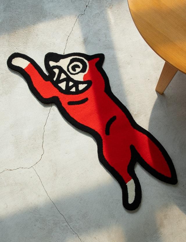 Icecream Running Dog Rug Red Men
