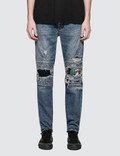 Marcelo Burlon Strong Wash Biker Jeans Picture