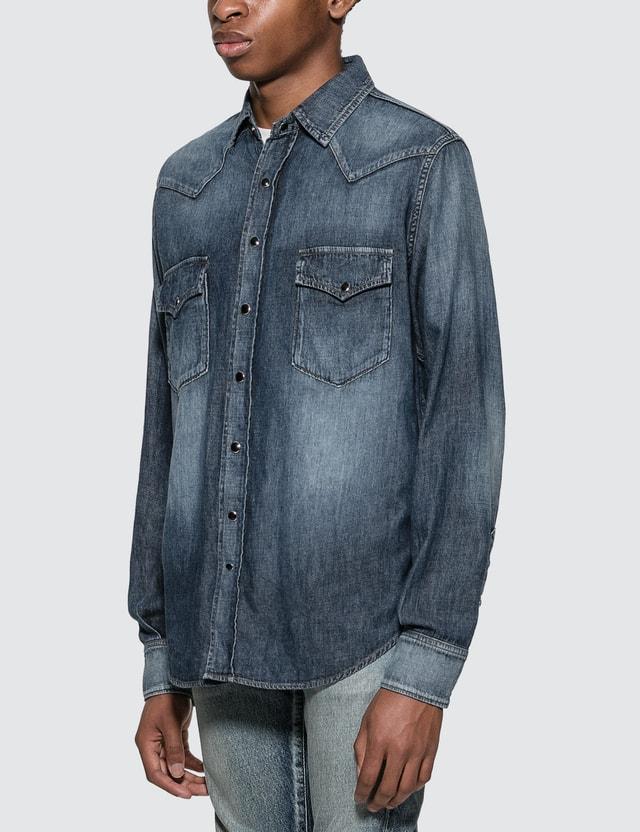 Saint Laurent 웨스턴 스타일 셔츠