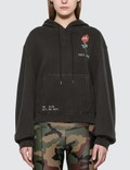 R13 Flaming Rose Cropped Hoodie Picture