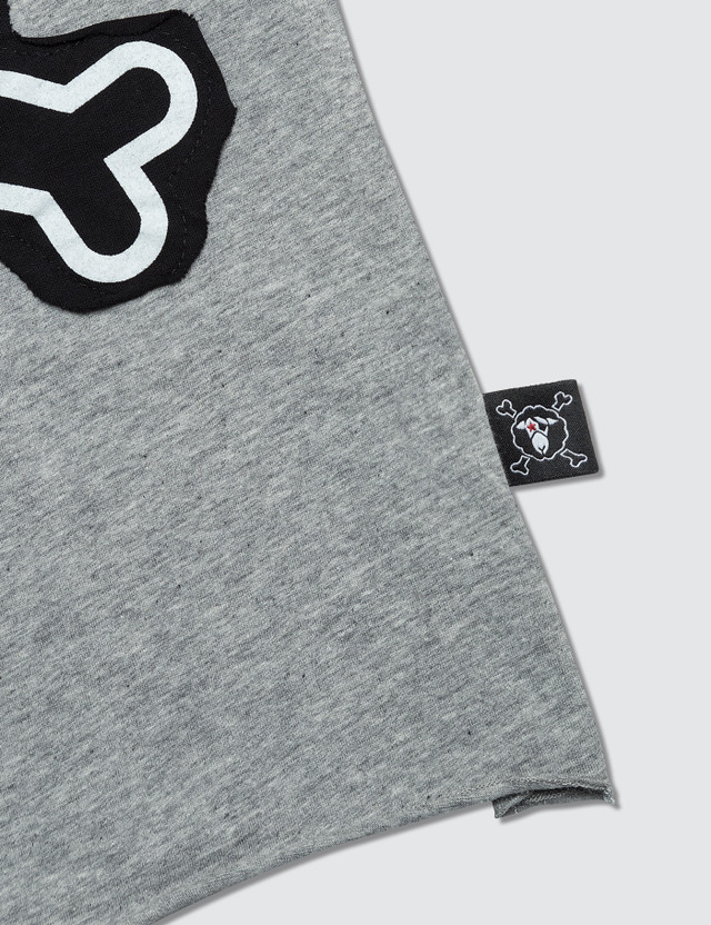 NUNUNU Skull Patch S/S T-Shirt Grey Kids