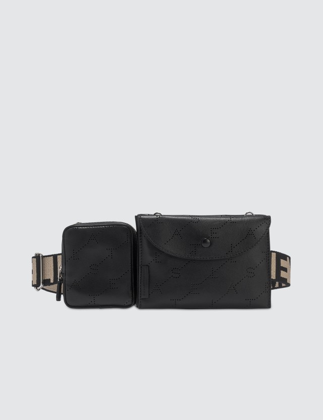 Stella McCartney Monogram Utility Belt Bag in Black