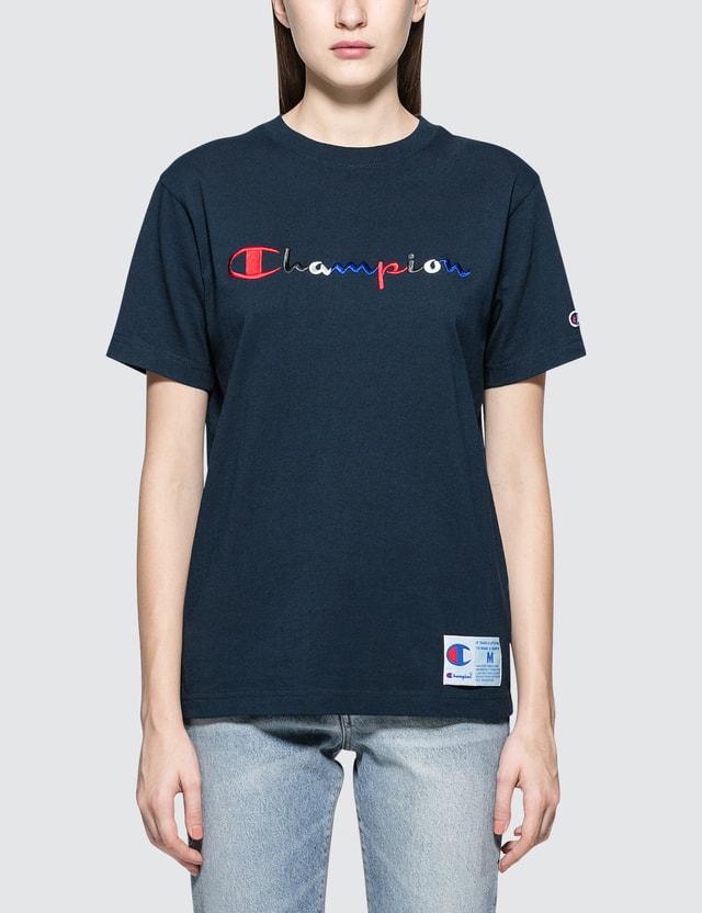 4bbaf588 Champion Japan - Tri-color Script Logo S/S T-Shirt | HBX
