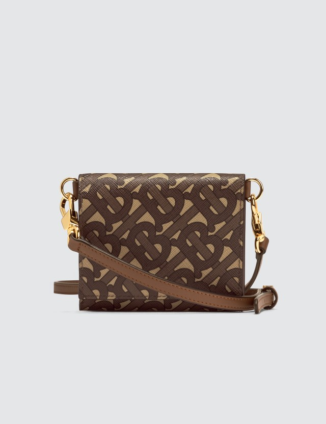 Burberry Small Monogram Print Wallet with Detachable Strap