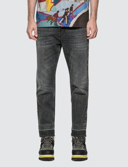 Stella McCartney Raw Hem Distressed Denim Jeans