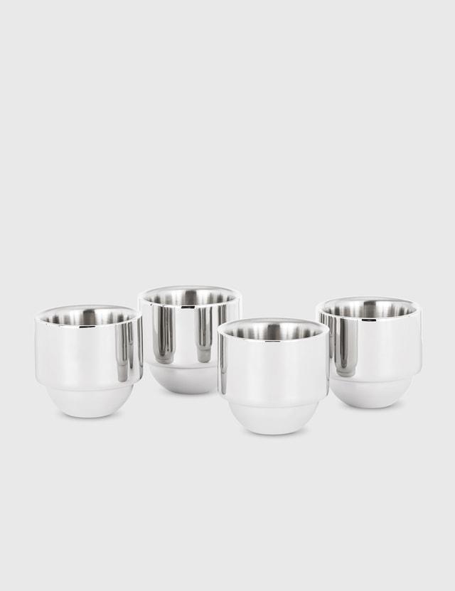 Tom Dixon Brew Espresso Cups (Set of Four) Silver Unisex
