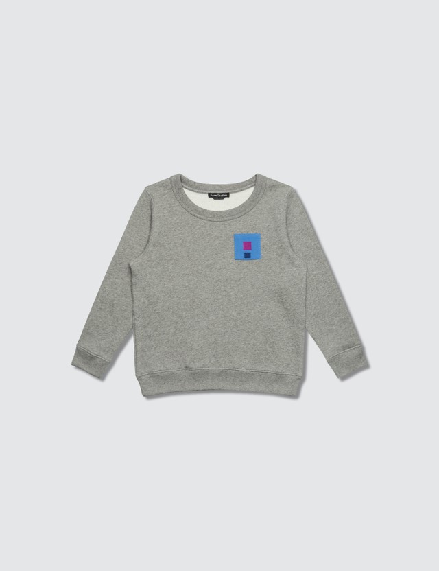 Acne Studios Mini Fairview Flag Sweatshirt Light Grey  Kids