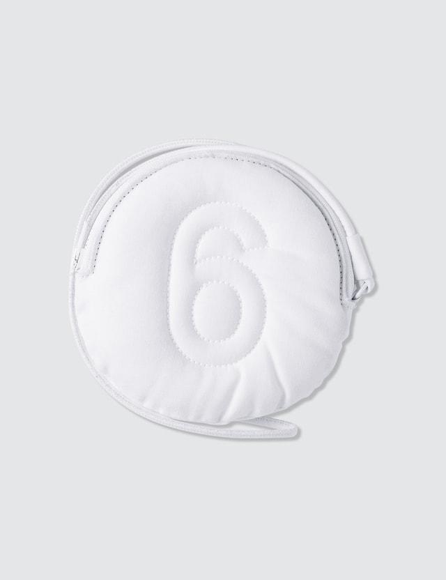 MM6 Maison Margiela Padded Zip 6 Logo Coin Purse