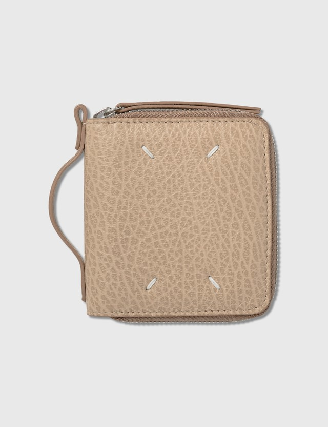 Maison Margiela Small Zip Wallet With Holder Skin Women