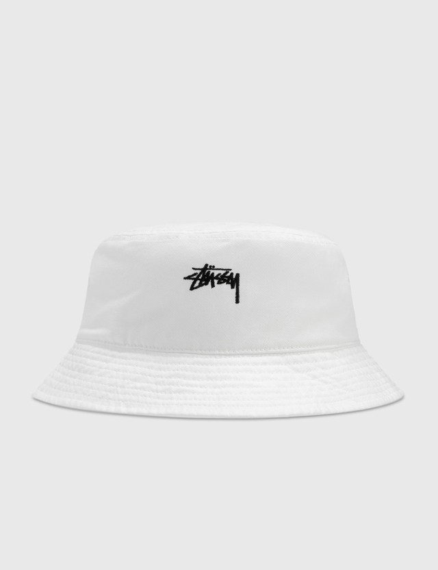 Stussy Stock Bucket Hat White Women