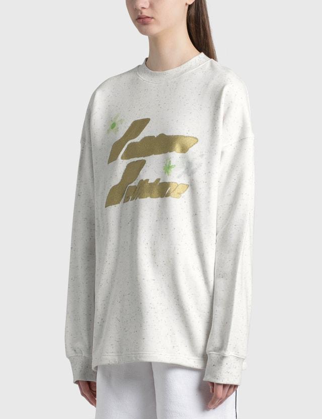 We11done Logo Print Long Sleeve T-shirt White Women
