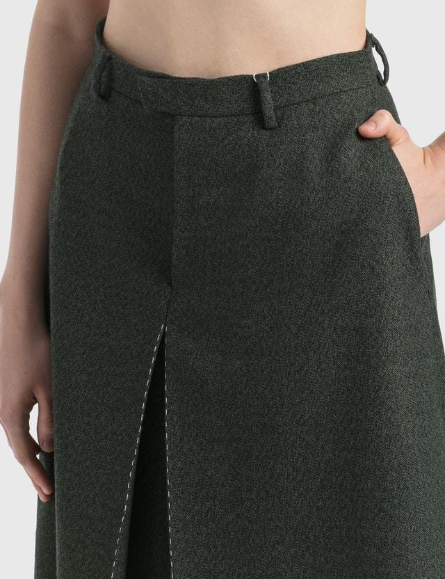 Maison Margiela Wool Canvas Skort Dark Green Women
