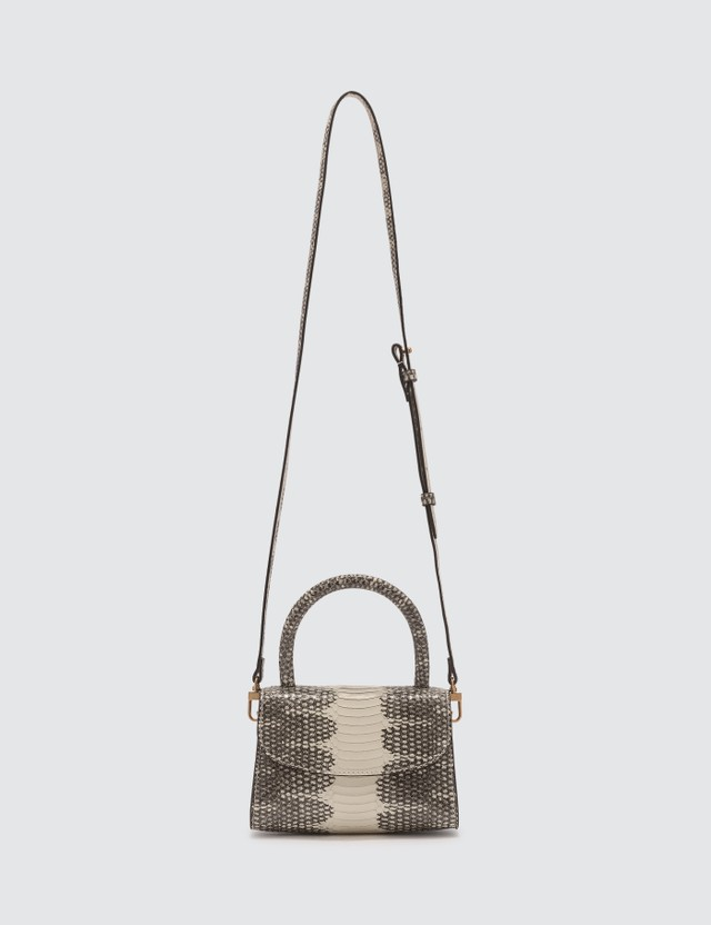 BY FAR Mini Graphic Snake Print Leather Bag