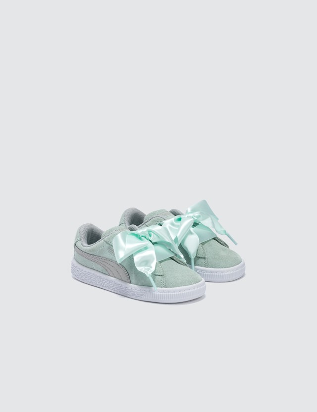 Puma Suede Heart Radicals Infants Fair Aqua-gray Violet Kids
