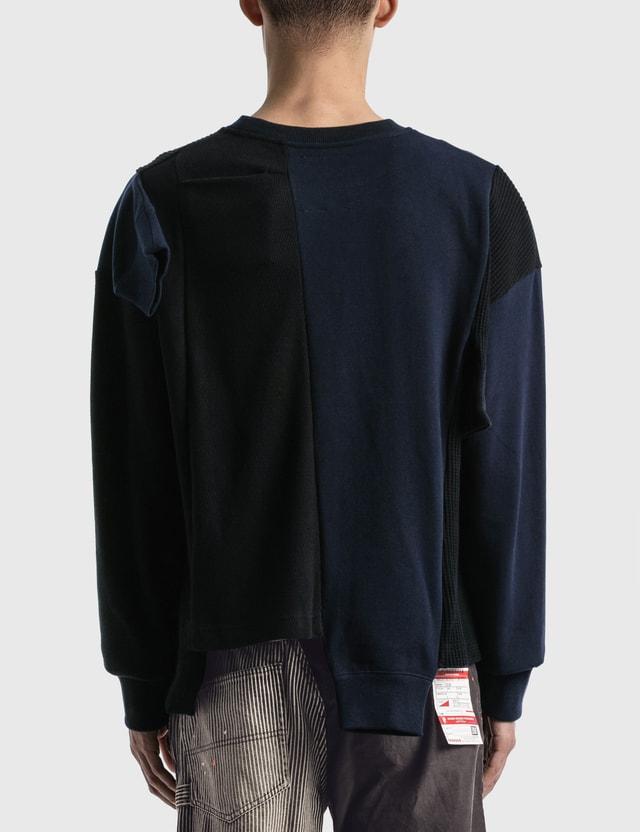 Maison Mihara Yasuhiro Sleeves Docking Pullover Black Men