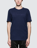 Champion Reverse Weave Cotton Linen Script Logo S/S T-Shirt Picture