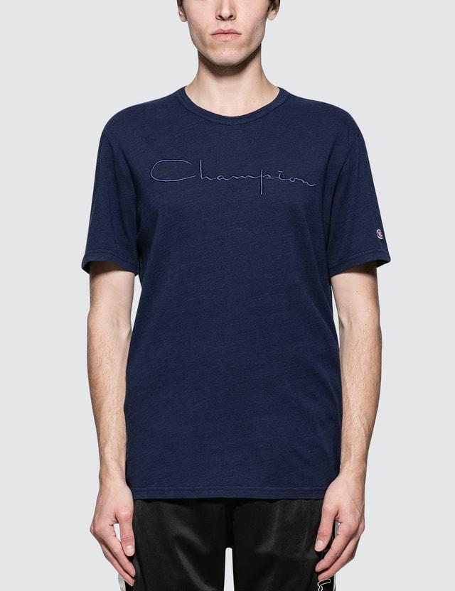 Champion Reverse Weave Cotton Linen Script Logo S/S T-Shirt