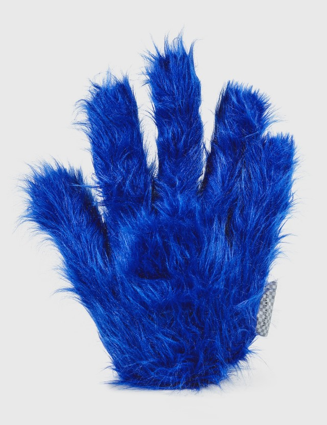 Crosby Studios Blue Furry Hand Pillow Blue Unisex