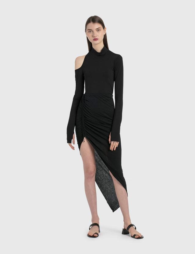 Helmut Lang Drawstring Skirt Black Women