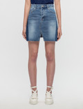 SJYP Cut Off Denim Skirt Picutre