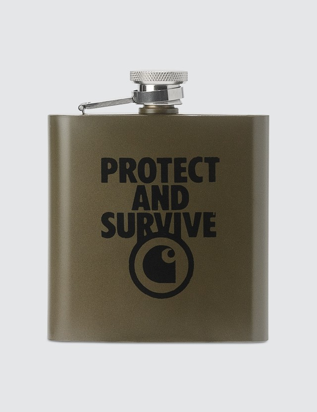 Carhartt Work In Progress Protect And Survive Whiskey Flask
