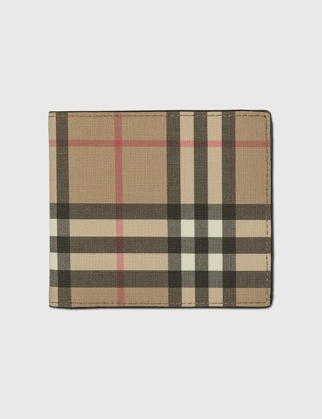 Burberry E-canvas Billfold Coin Wallet Archive Beige Men