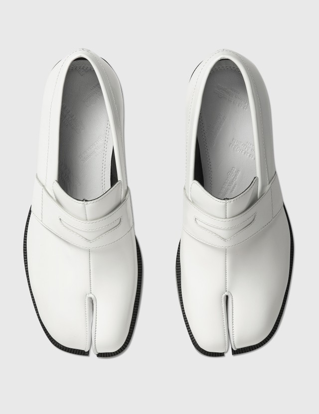 Maison Margiela Tabi Leather Loafers White Women