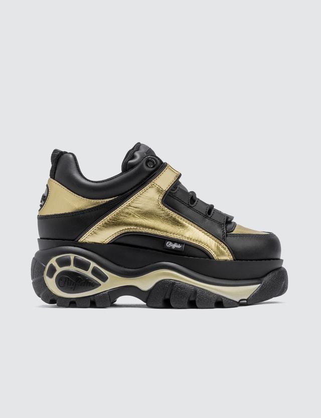 Buffalo London Buffalo Classic Gold Low-top Platform Sneakers