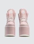 Buffalo London Buffalo Baby Pink High Tower Platform Sneakers