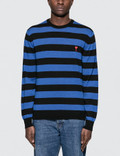 Ami Crewneck Sweater With Rugby Stripes Picture