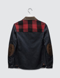 Junya Watanabe Wool Cotton Blend Patch Jacket