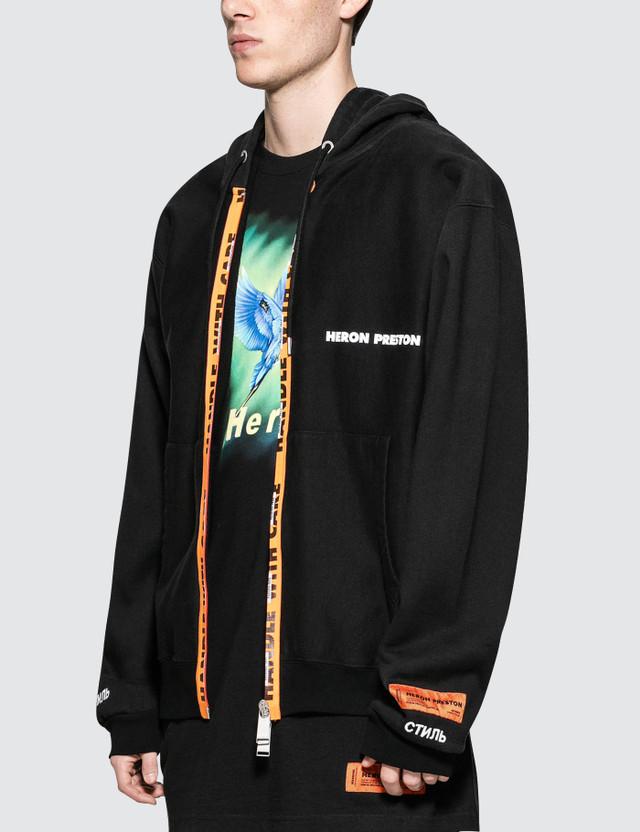 Heron Preston Handle Zip Hooded Sweatshirt