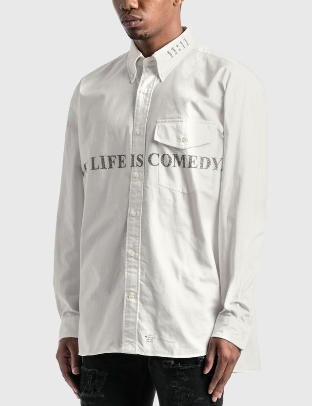 "Takahiromiyashita Thesoloist ""MY LIFE IS COMEDY"" B.D Shirt White Men"