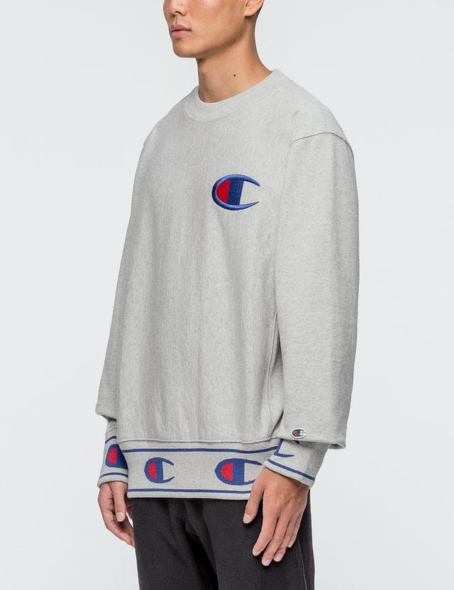 Champion Reverse Weave Rib Logo Sweatshirt