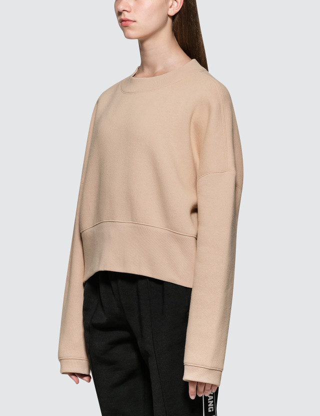 Alexander Wang.T Heavy French Terry Wide Neck Sweatshirt
