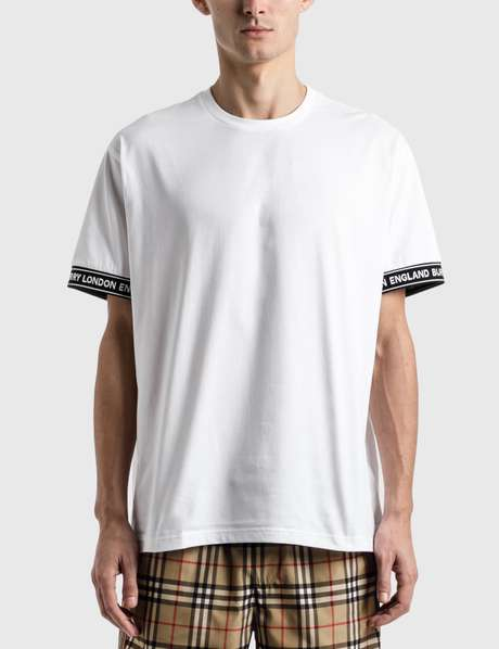 버버리 Burberry Logo Tape Cotton Oversized T-Shirt
