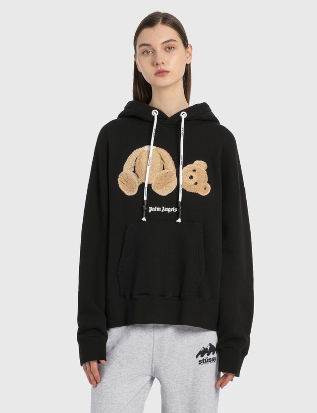 Palm Angels Palm Angels Bear Hoodie Black Brown Women