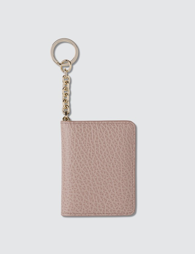 Maison Margiela Leather Card Holder With Key Ring