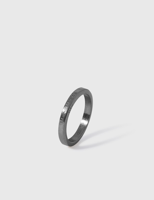 Maison Margiela Logo Ring Ruteniosemipolished +palladiosemipolished Men